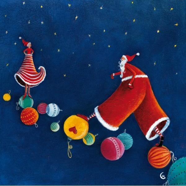 """""""Père Noël rejoignant la Mère Noël"""", de Marie Cardouat"""