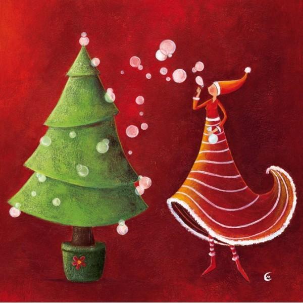 """""""Noël soufflant des bulles"""", de Marie Cardouat"""